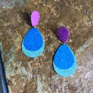 Metal Teardrop Earrings